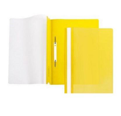 Папка-скоросшиватель, прозрачный  верх, А4, пластик, 100/120 мкм, KUBANSTAR, желтый