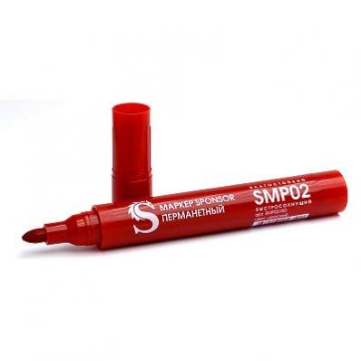 Маркер перманентный, 2-3 мм, пулевидный SPONSOR, красный