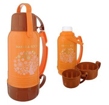 Термос с двумя чашками Mayer & Boch 1000 мл оранжевый
