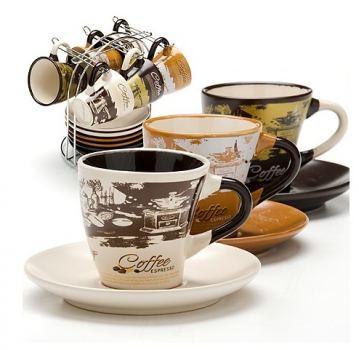Чайный набор на подставке керамика LORAINE 13 предметов