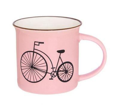 Кружка фарфор Elan gallery Велосипед розовый