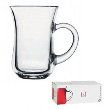 Набор кружек стекло 6шт Pasabahce Чай и кофе 140мл