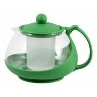 Чайник заварочный стекло Mallony 750 мл, зеленый
