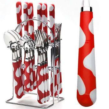 Набор столовых приборов Mayer&Boch 25 предметов красный