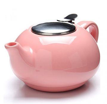 Чайник заварочный керамика Loraine 750мл розовый