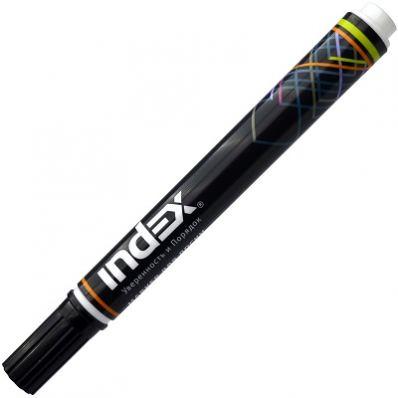 Маркер для белой доски клиновидный INDEX, 1-5 мм, черный