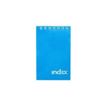 Блокнот INDEX на гребне клетка, А7, 40 листов, синий