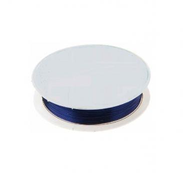 Проволока для бисера металл №03, 10 м, синий