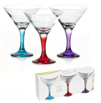 Набор бокалов для мартини 3 шт Pasabahce Enjoy 190 мл
