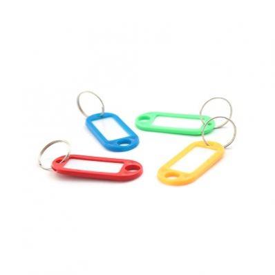 Брелок для ключей с инфо-окном, 1шт, цвет ассорти