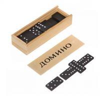 Игра настольная Домино Классик деревянная коробка, 28 косточек