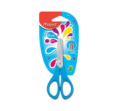 Ножницы детские, 120 мм, без линейки, симметричные овальные ручки, пластик, MAPED, START,