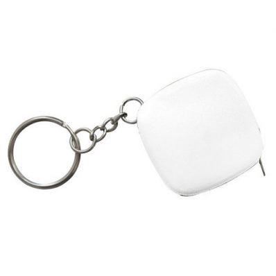 Брелок-рулетка для ключей 50 см, 25*25 мм, белый