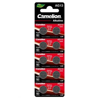 Батарейка для часов Camelion AG13, LR44, alkaline, 1 шт