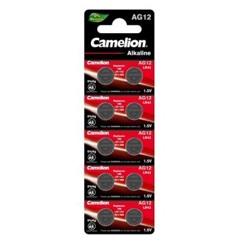 Батарейка для часов Camelion AG12, LR1142, alkaline, 1шт