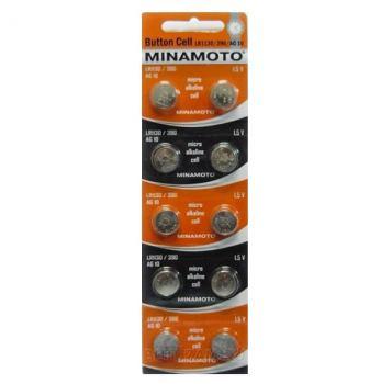 Батарейка для часов Minamoto AG10, LR1130, alkaline, 1шт