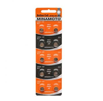 Батарейка для часов Minamoto AG2, LR726, alkaline, 1шт