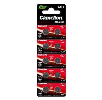 Батарейка для часов Camelion AG1, LR621, alkaline, 1 шт