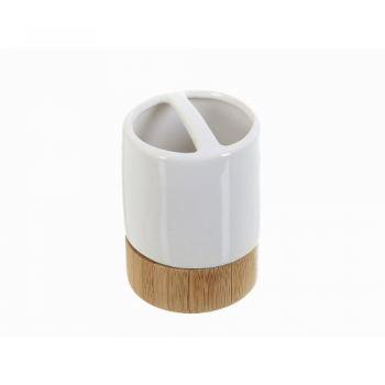 Стакан для зубных щеток керамика White CLEAN Naturel
