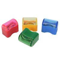 Точилка ручная, 1 отв., с контейнером, пластик, прямоугольная, ассорти цв., ACTION!, FANCY