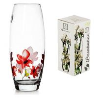 Ваза стеклянная бочонок декор Pasabahce Flora Exotic, 26 см