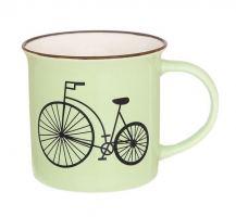Кружка фарфор Elan gallery Велосипед салатовый