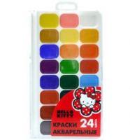 Краски акварельные, медовые классика ACTION!, HELLO KITTY, 24 цвета