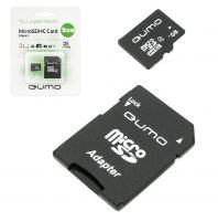 Карта памяти microSDHC QUMO, 8 ГБ
