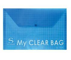 Папка-конверт горизонтальная, на кнопке, А4, ассорти цветов SPONSOR, MY CLEAR BAG