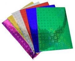 Набор бумаги голографической цветной A4, 6 цветов, 6 листов