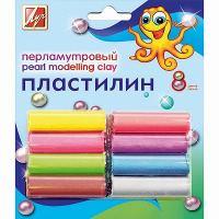 Пластилин, классический перламутр, 105 г.ЛУЧ, 8 цветов