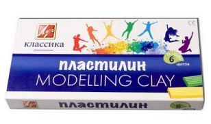 Пластилин классический 120 г, 1 стек, ЛУЧ, КЛАССИКА, 6 цветов