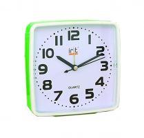 Часы-будильник пластик Irit IR-607, салатовый