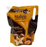 Мыло жидкое арган и ваниль Malizia дой-пак 1000 мл