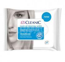 Салфетки влажные для снятия макияжа с мицеллярной водой Cleanic 10 шт