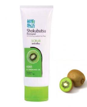 Пенка-скраб для лица Shokubutsu киви 100 мл