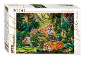 Пазлы 2000 В джунглях. Тигры Step puzzle, 960x680 мм