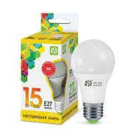Лампа светодиодная ASD LED A60 15Вт Е27 230В 3000К