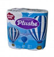Бумага туалетная PIushe Light 4 рулона, 2 слоя