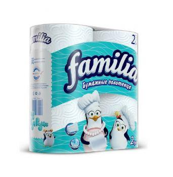 Бумажные полотенца Familia 2 рулона, 2 слоя
