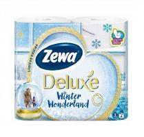 Туалетная бумага Zewa Deluxe Winter 4 рулона, 3 слоя