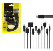 Кабель для зарядки телефонов Forza 10 в 1