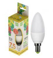 Лампа светодиодная ASD LED Свеча 7.5Вт Е14 230В 3000К