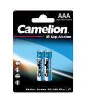 Батарейки Camelion Digi Alkaline LR03, AAA 2 шт