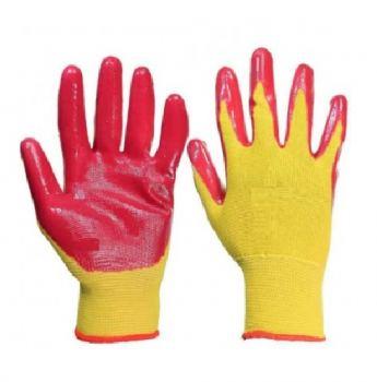 Перчатки х/б двойной облив с латексом ExProfi красные