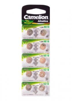 Батарейка для часов Camelion AG10 LR1130 alkaline 1шт