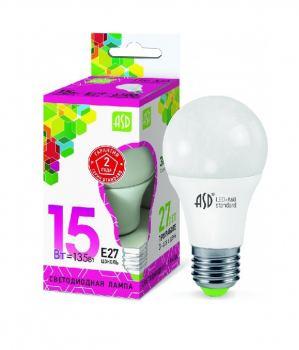 Лампа светодиодная ASD LED A60 15Вт Е27 230В 6500К