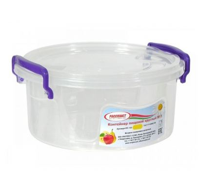 Контейнер пищевой пластик Росспласт 0,3 л