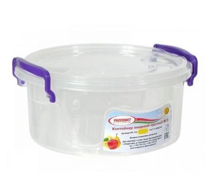 Контейнер пищевой пластик Росспласт 0,6 л