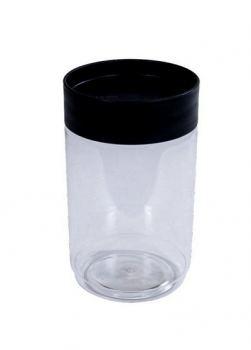 Банка для хранения сыпучих пластик Plast team 1 л черный